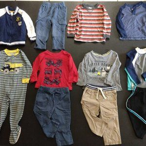 Toddler Boy Clothes Lot of 11 Sz 18M